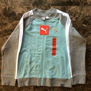Puma Girls Midweight Track Jacket Size 7/8 NWT